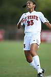 07 October 2007: NC State's Nadia Aboulhosn. The Duke University Blue Devils defeated the North Carolina State University Wolfpack 1-0 at Method Road Soccer Stadium in Raleigh, North Carolina in an Atlantic Coast Conference NCAA Division I Women's Soccer game.