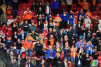 Blackpool fans before kick off<br /> <br /> Photographer Chris Vaughan/CameraSport<br /> <br /> The EFL Sky Bet League Two - Doncaster Rovers v Blackpool - Keepmoat Stadium - Doncaster<br /> <br /> World Copyright &copy; 2017 CameraSport. All rights reserved. 43 Linden Ave. Countesthorpe. Leicester. England. LE8 5PG - Tel: +44 (0) 116 277 4147 - admin@camerasport.com - www.camerasport.com