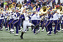 SEATTLE, WA - SEPTEMBER 14: Washington band members entertained fans before the college football game between the Washington Huskies and the Hawaii Rainbow Warriors on September 14, 2019 at Husky Stadium in Seattle, WA.