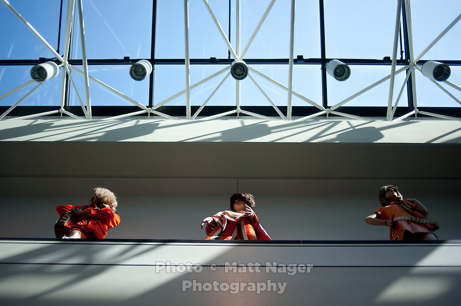 Mannequins dressed in old Southwest Airlines uniforms on display at Southwest Airlines headquarters at Love Field Airport in Dallas, Texas, Wednesday, October 27, 2010...PHOTO/ MATT NAGER