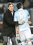 Celta de Vigo's coach Eduardo Berizzo and Nolito during La Liga match. February 27,2016. (ALTERPHOTOS/Acero)
