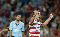 Wanderers Brendon Santalab reacts during his A-League match against Wanderers in Sydney, March 8, 2014. VIEWPRESS/Daniel Munoz EDITORIAL USE ONLY
