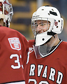 Raphael Girard (Harvard - 30) - The Harvard University Crimson defeated the Boston University Terriers 5-4 in the 2011 Beanpot consolation game on Monday, February 14, 2011, at TD Garden in Boston, Massachusetts.