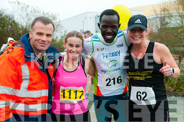 Listowel Half Marathon & 10k: Pictured at the Listowel half marathon & 10k  organised by the Kerry Crusaders in Listowel on Saturday morning last were David Toomey, Ann Kelliher Freddie Keron & Michelle Greaney.