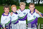 Enjoying GAA at Currow GAA Cu?l Camp were friends .L-R Tadhg Broderick, Bryan Daly, Adam Jensen and Gearoid Coffey.