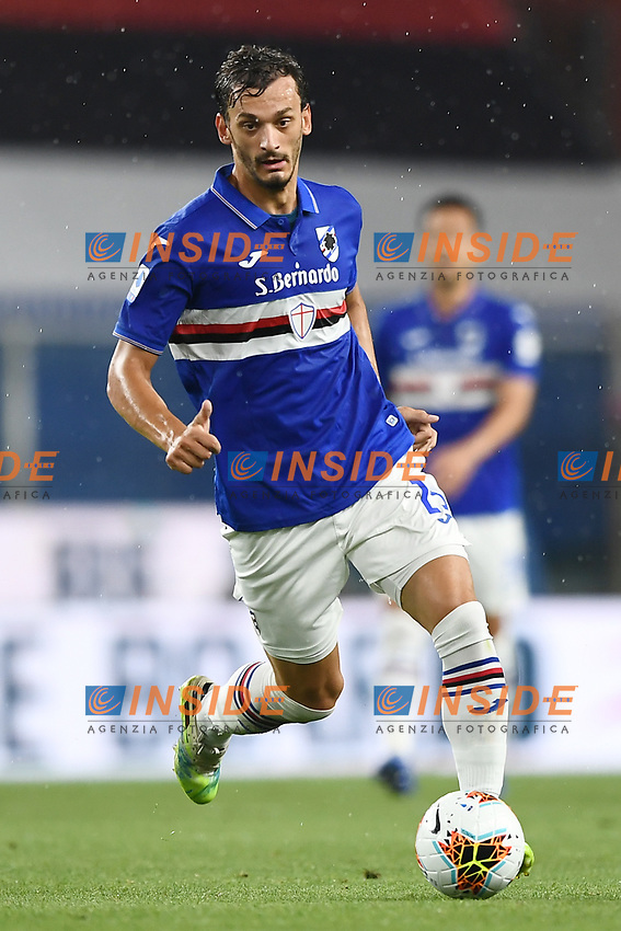 Manolo Gabbiadini of Sampdoria in action during the Serie A football match between UC Sampdoria and Genoa CFC at stadio Marassi in Genova (Italy), July 22th, 2020. Play resumes behind closed doors following the outbreak of the coronavirus disease. <br /> Photo Matteo Gribaudi / Image Sport / Insidefoto