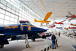 Seattle, Museum of Flight, Blue Angels, A-4F Skyhawk, historic airplanes and space craft, Boeing Field, Pacific Northwest,