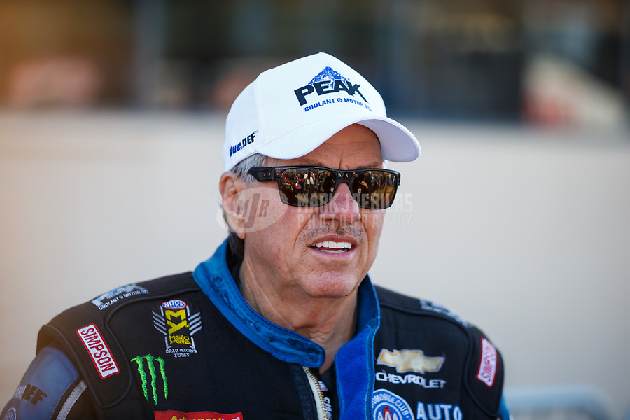 Jul 30, 2017; Sonoma, CA, USA; NHRA funny car driver John Force during the Sonoma Nationals at Sonoma Raceway. Mandatory Credit: Mark J. Rebilas-USA TODAY Sports
