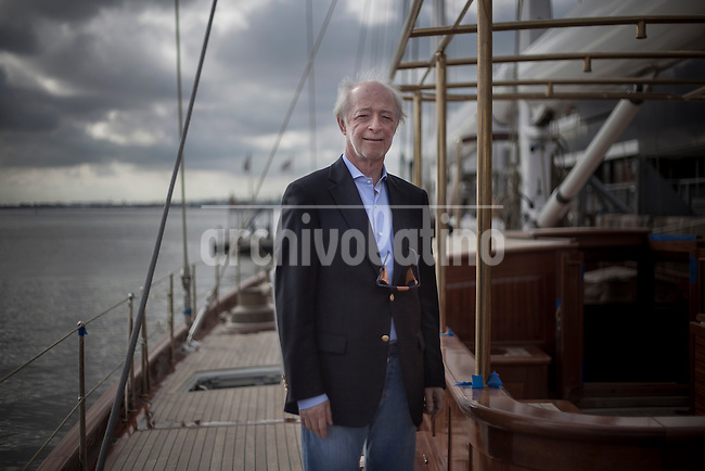 Juan Carlos Lopez Mena , one of the more relevant bussinessman of Uruguay, at his yatch-office in the harbour of Montevideo, the capital citiy of the country.Between other enterprises, Lopez Mena ows the ferry company Buquebus, that links Argentina and Uruguay, and started an airline now operating in several countries. Lopez Mena, born in Argentina but converted in Uruguay citizen, also has bussiness in many other countries of Europe.