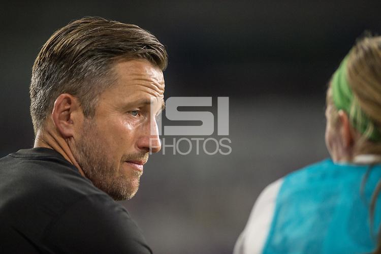 Orlando, FL - Saturday July 15, 2017: Matt Briggs during a regular season National Women's Soccer League (NWSL) match between the Orlando Pride and FC Kansas City at Orlando City Stadium.