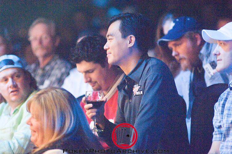 John Juanda enjoys a glass of wine after being eliminated.