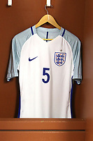 Joe Worrall's England shirt in the dressing room pre-match during England Under-18 vs Scotland Under-20, Toulon Tournament Semi-Final Football at Stade Parsemain on 8th June 2017