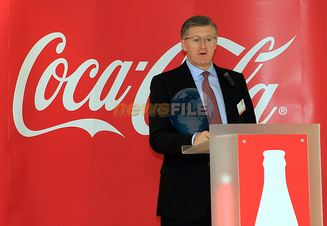 Official Opening of Coca Cola Global Business Services Finance Operation for Europe and Eurasia in Southgate Shopping Centre 28/10/11..(Photo credit should read Jenny Matthews www.newsfile.ie)....This Picture has been sent you under the conditions enclosed by:.Newsfile Ltd..The Studio,.Millmount Abbey,.Drogheda,.Co Meath..Ireland..Tel: +353(0)41-9871240.Fax: +353(0)41-9871260.GSM: +353(0)86-2500958.email: pictures@newsfile.ie.www.newsfile.ie.