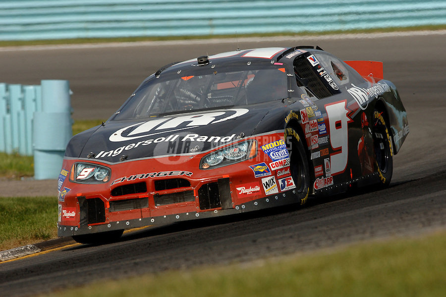 Aug. 12, 2006; Watkins Glen, NY, USA; Nascar Busch Series driver Boris Said (9) during the Zippo 200 at Watkins Glen International. Mandatory Credit: Mark J. Rebilas