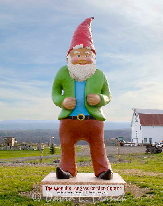 The Worlds Largest Garden Gnome in Kerhonkson, New York