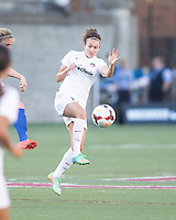 Allston, Massachusetts - June 1, 2014:  The Washington Spirit (white) defeated the Boston Breakers (blue) , 3-2 in a National Women's Soccer League Elite (NWSL) match at Harvard Stadium.