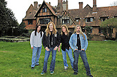 Megadeth - L-R: Shawn Drover, Dave Mustaine, Glen Drover, James LoMenzo -  photographed exclusively at Hook End Studios, Berkshire, UK - 30 Apr 2006.  Photo credit: George Chin/IconicPix