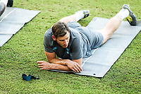 Jan Vertonghen, Player, of Tottenham Hotspur attends a training ahead of the UEFA Champions League match against Olympiacos FC, in Karaiskaki Stadium in Piraeus, Greece. Tuesday 17 September 2019