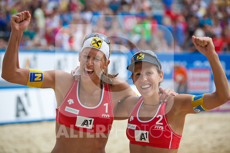 04.08.2011, Klagenfurt, Strandbad, AUT, Beachvolleyball World Tour Grand Slam 2011, im Bild , EXPA Pictures © 2011, PhotoCredit EXPA Gert Steinthaler