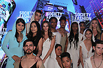 Models pose in outfits from Sita Couture collection fashion show, at The Society Fashion Week on September 9, 2018 at The Roosevelt Hotel in New York City, during New York Fashion Week Spring Summer 2019.