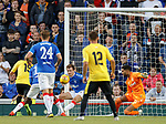18.07.2019: Rangers v St Joseph's: Andy Halliday clears off the line
