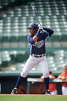Tampa Bay Rays right fielder Eleardo Cabrera (60) during an Instructional League game against the Baltimore Orioles on September 19, 2016 at Ed Smith Stadium in Sarasota, Florida.  (Mike Janes/Four Seam Images)