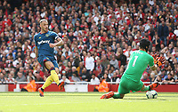 West Ham United's Marko Arnautovic scores but the goal was disallowed<br /> <br /> Photographer Rob Newell/CameraSport<br /> <br /> The Premier League - Arsenal v West Ham United - Saturday August 25th 2018 - The Emirates - London<br /> <br /> World Copyright © 2018 CameraSport. All rights reserved. 43 Linden Ave. Countesthorpe. Leicester. England. LE8 5PG - Tel: +44 (0) 116 277 4147 - admin@camerasport.com - www.camerasport.com