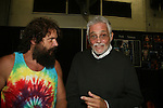 Rupert Boneham (Survivor) and Another World's David Hedison (Voyage to the Bottom of the Sea) appears at Big Apple Comic Con for autographs and photos on October 16 (and 17 & 18), 2009 at Pier 94, New York City, New York. (Photo by Sue Coflin/Max Photos)