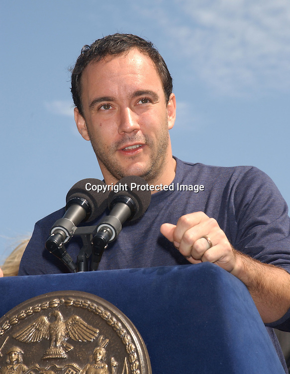 .Dave Matthews.at the announcement of Dave Matthews Band concert on September 12, 2003 in Central Park. The concert will be in .Central Park on September 24, 2003. Photo By Robin Platzer, Twin Images