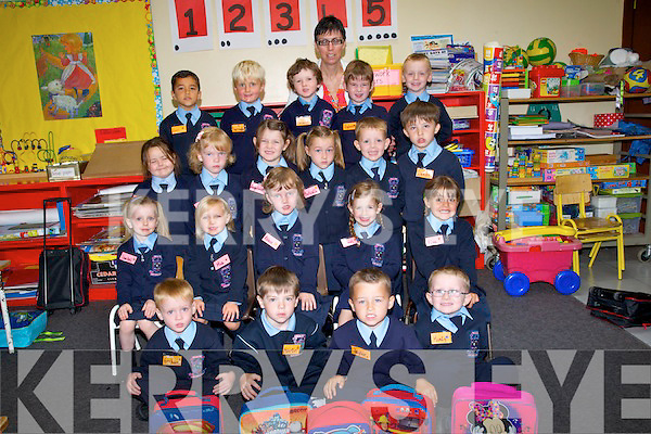 LEARNING: For their first lesson as they started school at Ardfert NS on Monday for the Junior Infants with their teacher Mrs Crowley. Graham Edge, Máirtín Casey, Taylor Falvey, Monty O'Halloran, isabel O'Moloney, Mia Fitzmaurice, Abbie Lane, Hazel O'Sullivan, Elsa Lawlor, Hayley Ronan Golden, Louise Lane, Oirliath McGrath, David O'Connor, Lukas Raymond, Eoin Malik, Darragh O'Flaherty, Thomas O'Connor, and Brady Leen.
