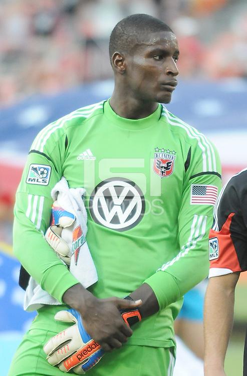 D.C. United goalkeeper Bill Hamid (28)  D.C. United defeated The Columbus Crew 1-0 at RFK Stadium, Saturday August 4, 2012.