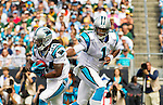 Game day as the Panthers play the home opener at Bank of America Stadium. Cam Newton showed his skills against the Pack and threw for a record 422 yards (a second week for over 400 yds). Editorial use only