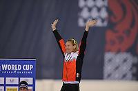 SPEED SKATING: SALT LAKE CITY: 21-11-2015, Utah Olympic Oval, ISU World Cup, Podium 10.000m Men, Ted-Jan Bloemen (CAN), World Record: 12.36,30, ©foto Martin de Jong