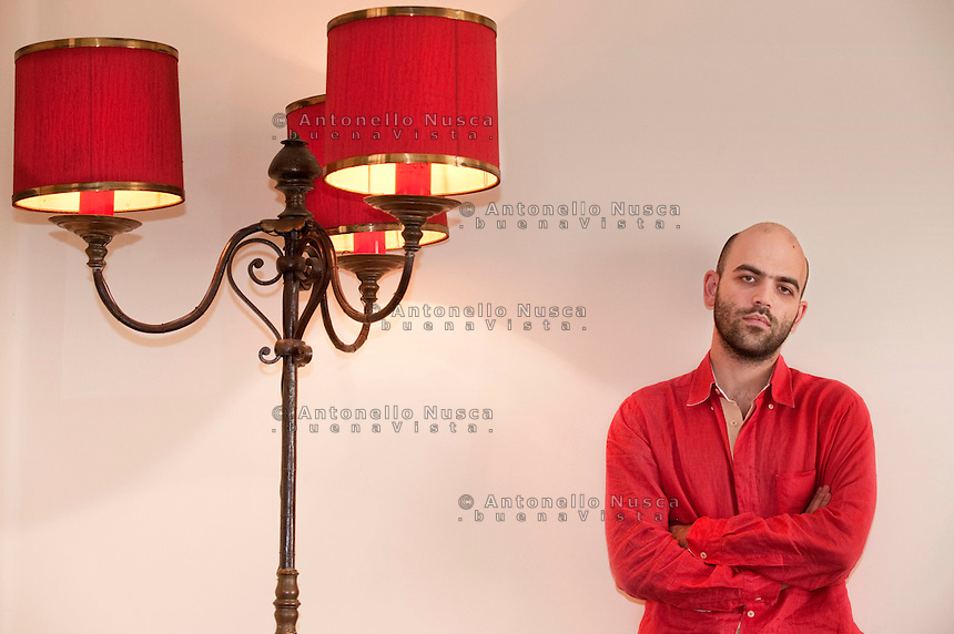 Italian author Roberto Saviano.