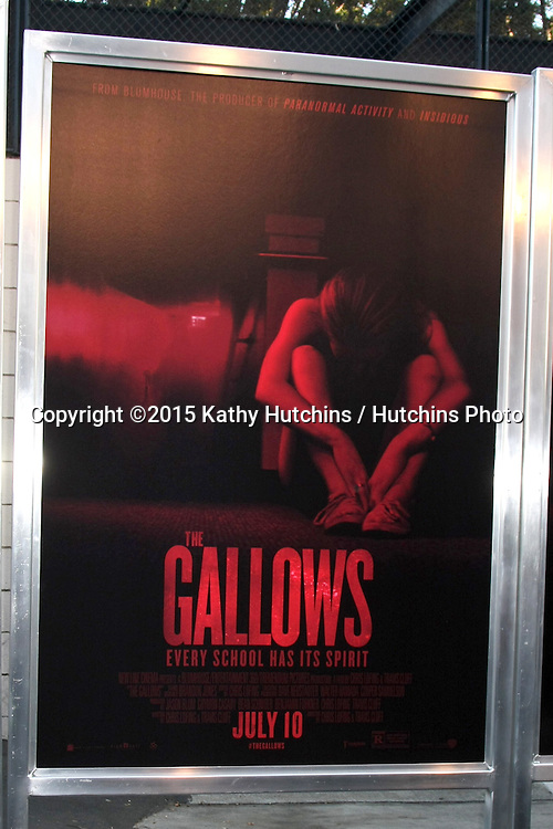 "LOS ANGELES - JUL 7:  The Galllows Poster at the ""The Gallows"" Premiere at the Hollywood High School on July 7, 2015 in Los Angeles, CA"