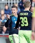 Nederland, Zwolle, 11 november  2012.Eredivisie.Seizoen 2012-2013.PEC-Zwolle-Ajax.Toby Alderweireld van Ajax scoort de 1-0 en juicht