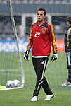 20 November 2009: Goalkeeper Kyle Reynish. Real Salt Lake held a training session and press conference at Qwest Field in Seattle, Washington in preparation for playing the Los Angeles Galaxy in Major League Soccer's championship game, MLS Cup 2009, two days later.