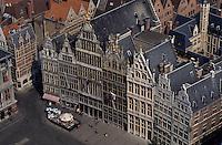 Europe/Belgique/Flandre/Province d'Anvers/Anvers : Maisons et Grand-Place vus depuis le clocher de la cathédrale