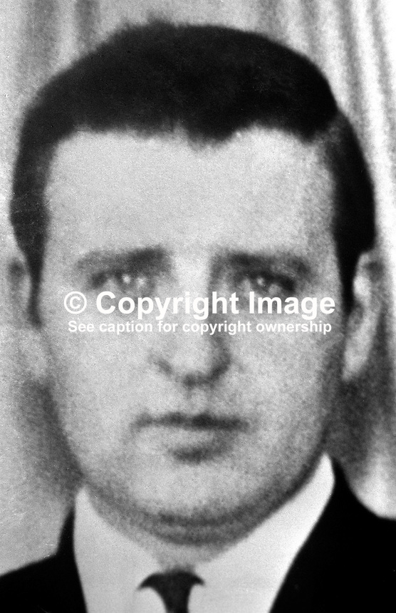 Robert Dobson,  38 years, married, one of two brothers, who were shot dead as they worked in the family egg-packing business In Moy, Co Tyrone, N Ireland. The other brother was Thomas Dobson, 40 years, also married. There was wide-spread speculation that the brothers were shot  in retaliation for bombing of a bar in Charlemont, a nearby village, in which seven died. 197605160277a..Copyright Image from Victor Patterson, 54 Dorchester Park, Belfast, UK, BT9 6RJ..Tel: +44 28 9066 1296.Mob: +44 7802 353836.Voicemail +44 20 8816 7153.Skype: victorpattersonbelfast.Email: victorpatterson@me.com.Email: victorpatterson@ireland.com (back-up)..IMPORTANT: If you wish to use this image or any other of my images please go to www.victorpatterson.com and click on the Terms & Conditions. Then contact me by email or phone with the reference number(s) of the image(s) concerned.