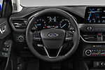 Car pictures of steering wheel view of a 2018 Ford Focus Clipper Titanium Business 5 Door Wagon