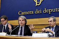 Roma, 9 Marzo 2017<br /> Renato Brunetta e Maurizio Gasparri.<br />  Parlamentari di Forza Italia presentano la proposta sulla Sicurezza .