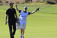 Ross Fisher (ENG) and Mark Sherwood walk to the 5th green during Saturday's Round 3 of the 2018 Turkish Airlines Open hosted by Regnum Carya Golf &amp; Spa Resort, Antalya, Turkey. 3rd November 2018.<br /> Picture: Eoin Clarke | Golffile<br /> <br /> <br /> All photos usage must carry mandatory copyright credit (&copy; Golffile | Eoin Clarke)