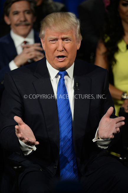 WWW.ACEPIXS.COM <br /> March 20, 2014 New York City<br /> <br /> Donald Trump attending the press junket for 'The Celebrity Apprentice' Season 14 at Chelsea Piers on March 20, 2014 in New York City.<br /> <br /> Please byline: Kristin Callahan  <br /> <br /> ACEPIXS.COM<br /> Ace Pictures, Inc<br /> tel: (212) 243 8787 or (646) 769 0430<br /> e-mail: info@acepixs.com<br /> web: http://www.acepixs.com