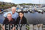 Kevin O'Shea Denis O'Sullivan and Cinthia Rivero at Caherciveen Marina.