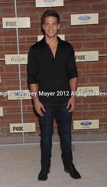 =Culver City=, CA - SEPTEMBER 10: Dean Geyer arrives at the FOX Fall Eco-Casino Party at The Bookbindery on September 10, 2012 in Culver City, California.
