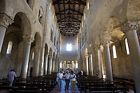 Interno dell'abbazia di Sant'Antimo.<br /> Interior of the abbey of Sant'Antimo.<br /> UPDATE IMAGES PRESS/Riccardo De Luca