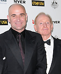 Andre Agassi and Roy Emerson at G'Day USA LA Black Tie Gala held at The Hollywood Palladium in Hollywood, California on January 22,2011                                                                               © 2010 Hollywood Press Agency