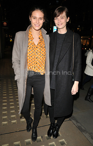 Charlotte Wiggins and Lara Mullen at the Danielle Copperman's &quot;Well Being&quot;  book launch party, Lululemon, Regent Street, London, England, UK, on Thursday 11 January 2018.<br /> CAP/CAN<br /> &copy;CAN/Capital Pictures /MediaPunch ***NORTH AND SOUTH AMERICAS ONLY***