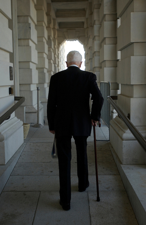 Sen. Robert Byrd, D-W.V., makes his way to the North Door of the U.S. Capitol.