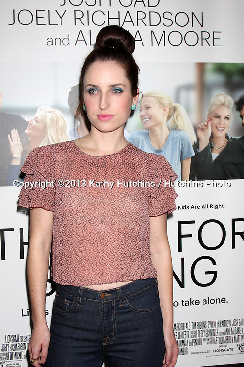 """LOS ANGELES - SEP 16:  Zoe Lister-Jones at the """"Thanks for Sharing"""" Premiere  at ArcLight Hollywood Theaters on September 16, 2013 in Los Angeles, CA"""